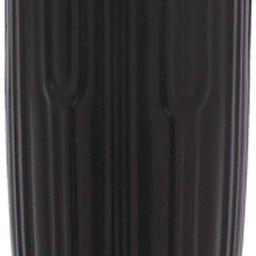 "Ceramic Matte Black Ridged Vase Round Pedestal Base with Six Defined Sides 8""   Amazon (US)"