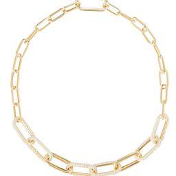 Pavé Chain-Link Necklace   INTERMIX