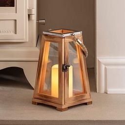 """Lights4fun, Inc. 10"""" Wooden Battery Operated Indoor Flameless LED Candle Lantern   Amazon (US)"""