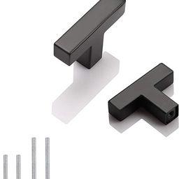 10 Pack Probrico Black Stainless Steel Square Corner Bar Cabinet Door Handles Drawer Pulls Knobs ...   Amazon (US)
