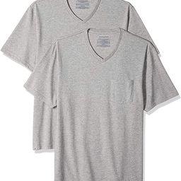 Amazon Essentials Men's 2-Pack Loose-Fit Short-Sleeve V-Neck Pocket T-Shirt   Amazon (US)