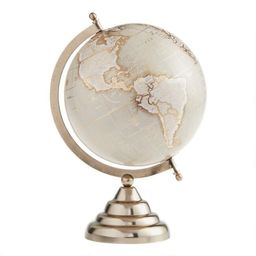 Taupe And Gold Globe On Stand | World Market