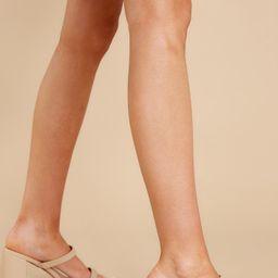 Fervently Fierce Nude High Heel Sandals | Red Dress