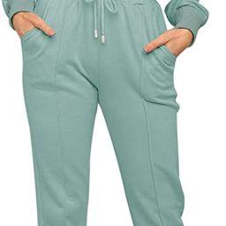 ZESICA Women's Long Sleeve Crop Top and Pants Pajama Sets 2 Piece Jogger Long Sleepwear Loungewea... | Amazon (US)