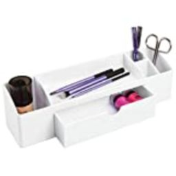 iDesign Med+ Storage Box Organizer for Thermometers, Medical Supplies, Makeup, Cotton Balls - White | Amazon (US)
