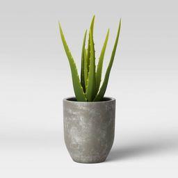 Faux Aloe in Pot Gray/Green - Project 62™   Target