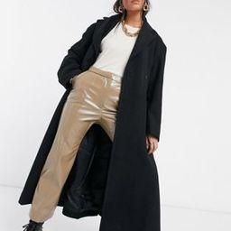 Weekday Sanne longline tailored wool coat in black   ASOS (Global)