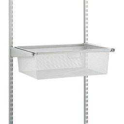 Elfa 1-Runner Mesh Hanging Drawer Platinum   The Container Store