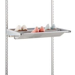 2' Elfa Mesh Gliding Shoe Shelf Platinum   The Container Store