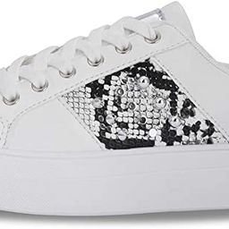 LUCKY STEP Women Rivet Stud Platform Sneakers - White Tennis Snake Leopard Student Low Top Casual... | Amazon (US)