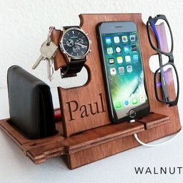 Gift for Men Docking Station, It keeps all personal items organized, Gift for Him, Christmas Gift... | Etsy (US)