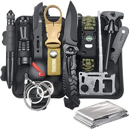 Gifts for Men Dad Husband, Survival Gear and Equipment 12 in 1, Christmas Stocking Stuffers, Fish... | Amazon (US)