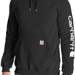 Carhartt Men's Midweight Sleeve Logo Hooded Sweatshirt (Regular and Big & Tall Sizes) | Amazon (US)