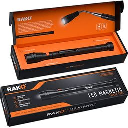 RAK Magnetic Pickup Tool with LED Lights - Telescoping Magnet Pick Up Gadget Tool for Men, DIY Ha... | Amazon (US)