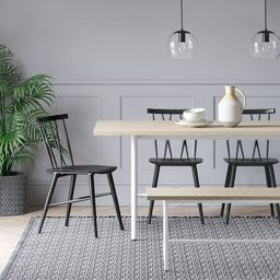 Becket Metal X Back Dining Chair Black - Project 62™ | Target