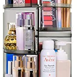 360 Degree Rotation Makeup Organizer Gray, Lazy Susan Cosmetics Storage Shelf Makeup Carousel Rot...   Amazon (US)