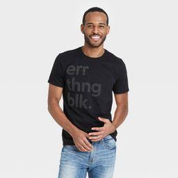 Black History Month Men's 'Errthng Blk' Short Sleeve T-Shirt - Black   Target