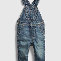 Baby Lined Denim Overalls   Gap (US)