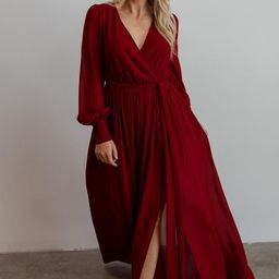 Celine Wine Maxi Dress | Baltic Born