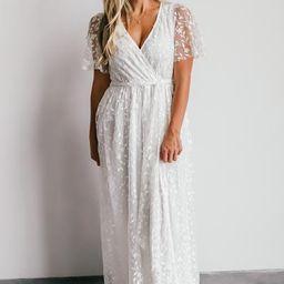 Marseille White Embossed Maxi Dress | Baltic Born