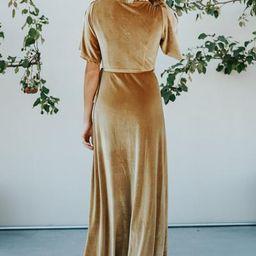 Meghan Gold Velvet Wrap Maxi | Baltic Born