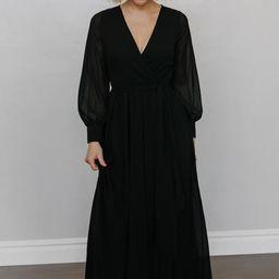 Lydia Black Maxi Dress | Baltic Born