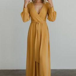 Lydia Mustard Maxi Dress | Baltic Born