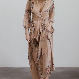 Lydia Taupe Floral Maxi Dress | Baltic Born