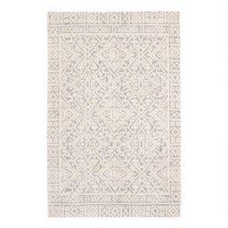 Gray and Ivory Persian Style Charlton Area Rug | World Market