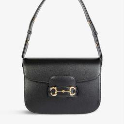 1955 Horsebit leather shoulder bag | Selfridges