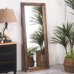 RHF Full Length Mirror, Tall Floor Mirror, Large Full Body Mirror, Wall Mirror, Rustic Wood Frame...   Amazon (US)