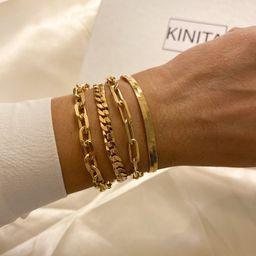 Link chain bracelet stacking bracelets gold paperclip chain | Etsy | Etsy (US)
