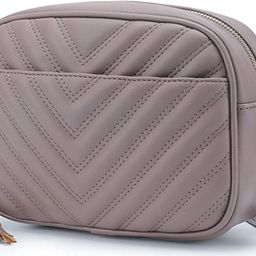 Lola Mae Quilted Crossbody Bag, Medium Lightweight Shoulder Purse Top Zipper Tassel Accent   Amazon (US)