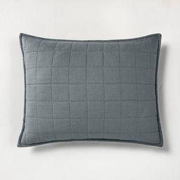 Heavyweight Linen Blend Quilted Pillow Sham - Casaluna™ | Target
