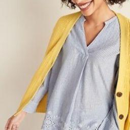 Striped Eyelet-Hem Blouse for Women   Old Navy (US)