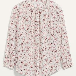 Oversized Floral-Print Button-Front Blouse for Women   Old Navy (US)