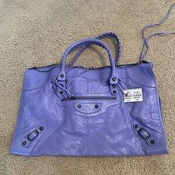 BALENCIAGA Purple Giant Motorcycle City Bag $1945+ Tax | eBay US