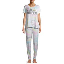 Secret Treasures Women's and Women's Plus T-Shirt and Joggers, 2-Piece Pajama Set | Walmart (US)