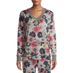 Secret Treasures Essentials Women's and Women's Plus V-neck Knit Sleep Top | Walmart (US)