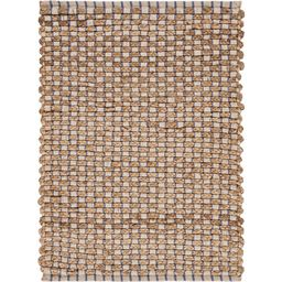 LR Home Bay Indigo Blue 2 ft. x 3 ft. Braided Threading Natural Jute Area Rug   The Home Depot