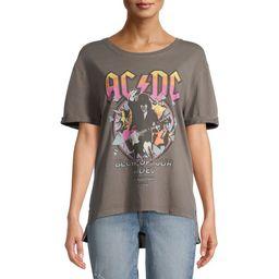 Scoop Women's AC/DC Hi Low Boyfriend T-Shirt | Walmart (US)