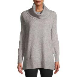 Time and Tru Women's Cowl Neck Tunic Sweater | Walmart (US)