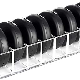 HBlife Clear Acrylic Compact Organizer Blushes Highlighters Eyeshadow Makeup Organizer, 8 Spaces   Amazon (US)