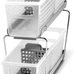 madesmart 2-Tier Organizer Bath Collection Slide-out Baskets with Handles, Space Saving, Multi-pu...   Amazon (US)
