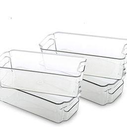 BINO Stackable Plastic Organizer Storage Bins, Medium - 4 Pack - Pantry Organization and Storage ...   Amazon (US)