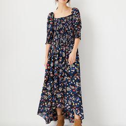 Floral Smocked Maxi Dress | Ann Taylor (US)