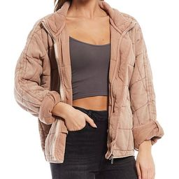 Dolman Quilted Knit Cotton Jacket | Dillards