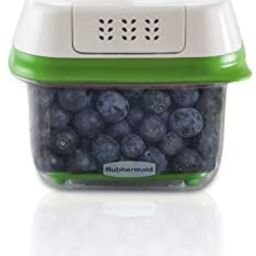 Rubbermaid FreshWorks Produce Saver Food Storage Container, Small, 2.5 Cup, Green   Amazon (US)