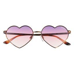 Heartbreaker 55mm Tinted Heart Sunglasses | Nordstrom