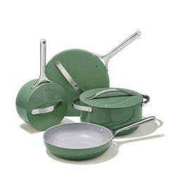Caraway Ceramic Cookware Set in Sage | goop